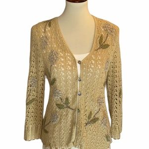 Vintage Knitted by Hand Knitting Needles Cardigan